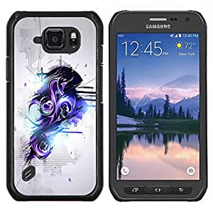 "For Samsung Galaxy S6 active / SM-G890 , S-type Púrpura y Negro Resumen de graffiti"" - Arte & diseño plástico duro Fundas Cover Cubre Hard Case Cover"