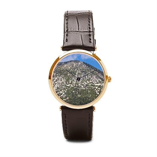 puppya relojes correa de piel Hill reloj piel montaña marrón/dorado: Amazon.es: Relojes
