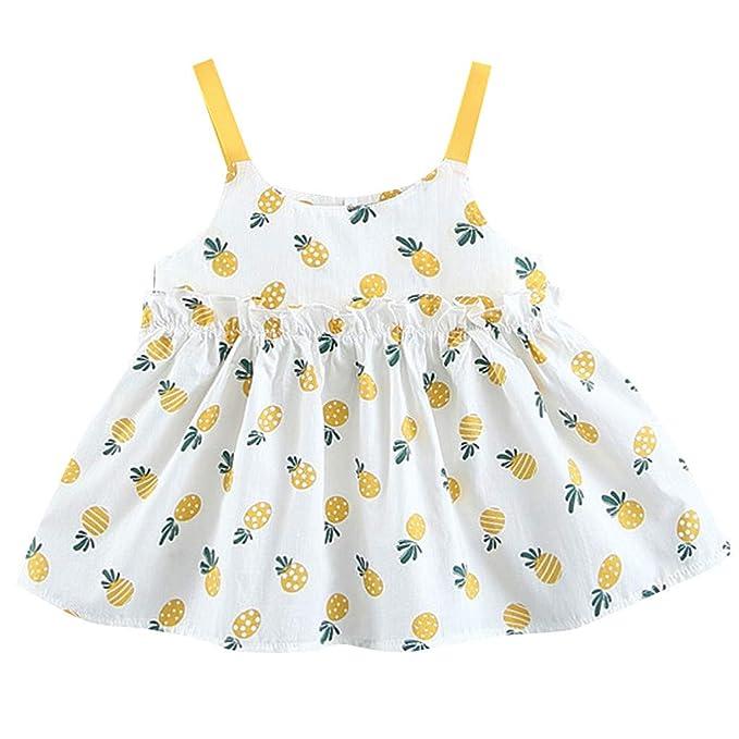 Berimaterry Vestido de Niña Floral Bowknot Vestido de la Honda ...