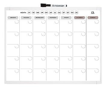 Amazoncom Quartet Magnetic Dry Erase Calendar 1 Month 11 X 14