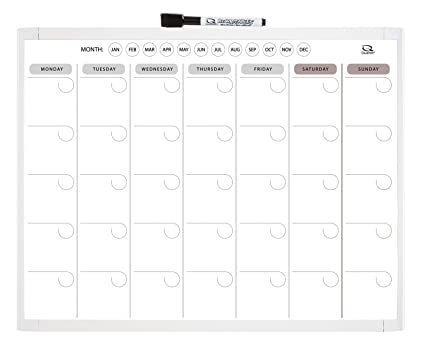 Amazon Com Quartet Magnetic Dry Erase Calendar 1 Month 11 X 14