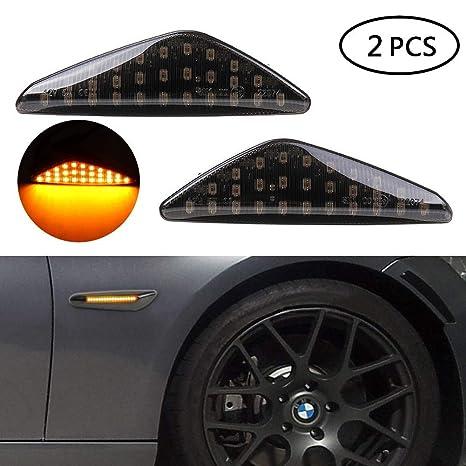 2 PCS LED Black Side Marker Light Turn Signals For BMW F25 E70 E71 X3 X5 X6 NEW+