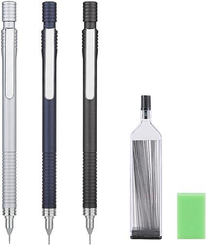 angrox lápices mecánicos, auto afilado automático dibujo Redacción portaminas 0,5 mm lleva 0,7 mm
