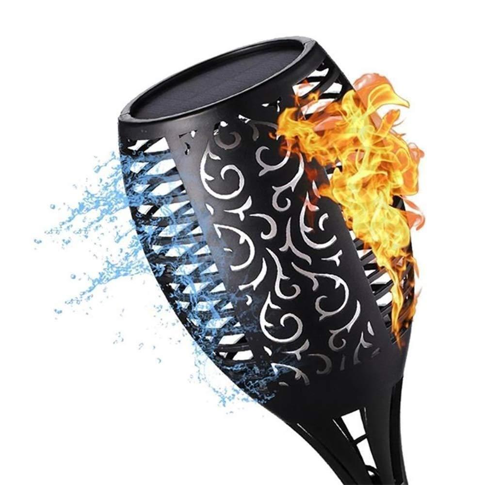 VIVIANE Waterproof Flashing Flame Garden Light, Solar Flashlight Light, Outdoor Decorative Garden Lawn Light (Emitting Color : 4pc)