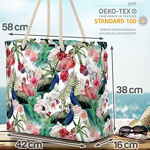 VOID grov flamingo rosor strandväska Shopper 58 x 38 x 16 cm 23 L XXL shoppingväska väska resväska Beach Bag