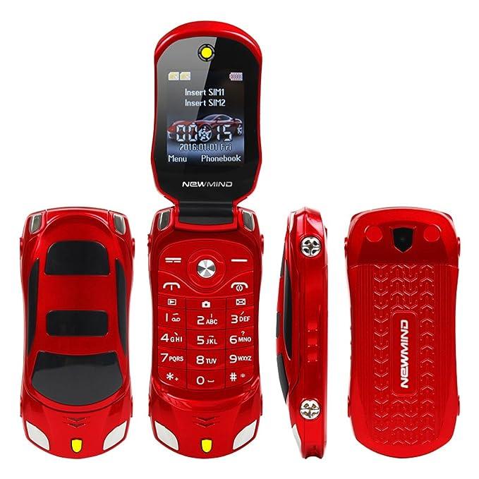 Sports Car Model F15 Mini Flip Phone Dual SIM Card MP3 Backup Phone Best  For Kids