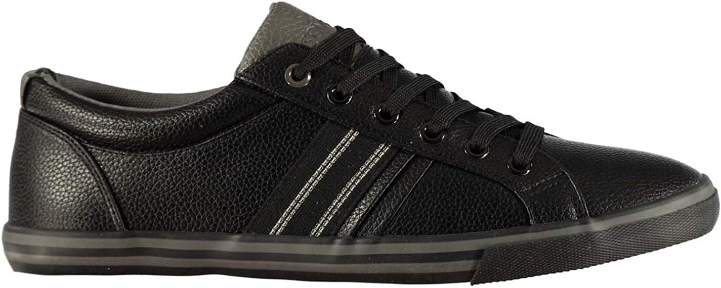 Soviet Mens Stripe Trainers Casual Shoes Lace Up Padded
