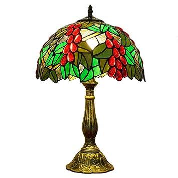 TYYW Luz de Mesa Estilo Tiffany, diseño de Uvas Verdes ...
