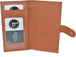 Leatherboss Checkbook Cover With Snap Closure