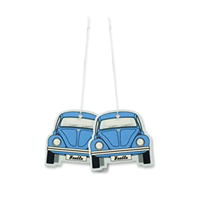 BRISA VW Collection - Volkswagen Scented Car Air Freshener Fragrance Deodorizer for Car/Auto or Home with Volkswagen Beetle/Bug Front Design (Fresh/Blue/2-pc Set): Automotive [5Bkhe1001555]