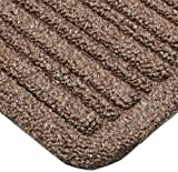 Notrax 161 Barrier Rib Entrance Mat, for Indoor Main Entranceways and Heavy Traffic Areas, 4' Width x 6' Length x 3/8'' Thickness, Brown