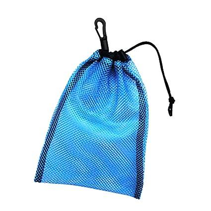 Homyl Bolsas de Malla de Almacenamiento Uso de Natación Cordón de Buceo Snorkel Deportes - Azul