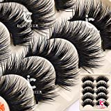 5 Pairs Makeup Long Cross False Eyelashes Nattural False Eye Lash Blue & Black
