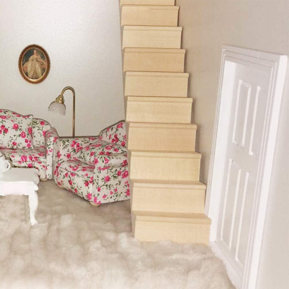 Amazon.es: Healifty casa de muñecas miniaturas Escalera de Madera Mini casa de muñecas Modelo de Muebles para jardín de Hadas Adorno decoración de casa de muñecas: Juguetes y juegos