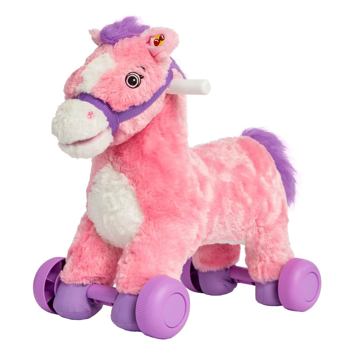Rockin' Rider Charger 2-in-1 Pony Ride-On (Pink/Purple)