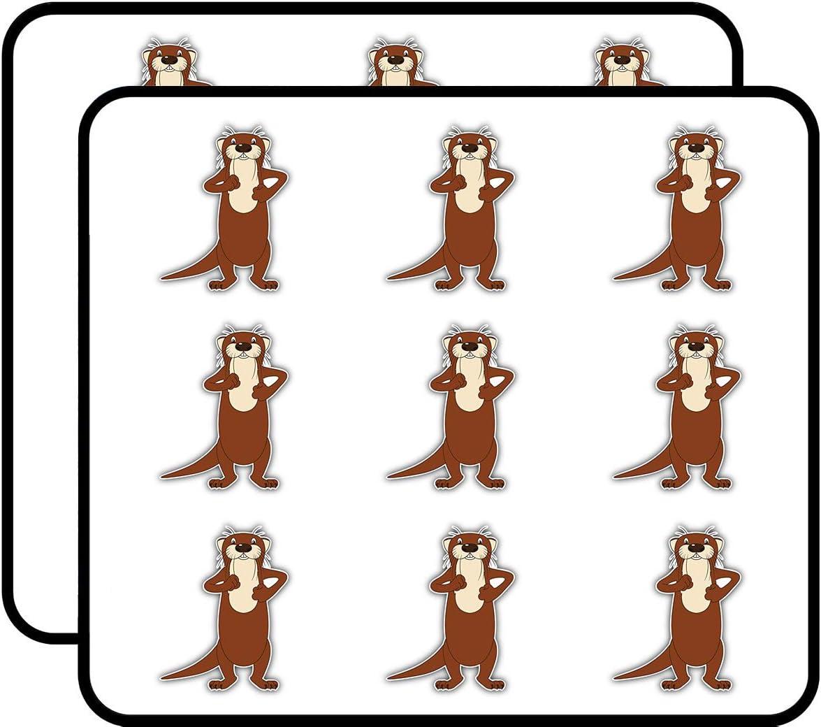 Funny Cartoon River Otter Art Decor 2