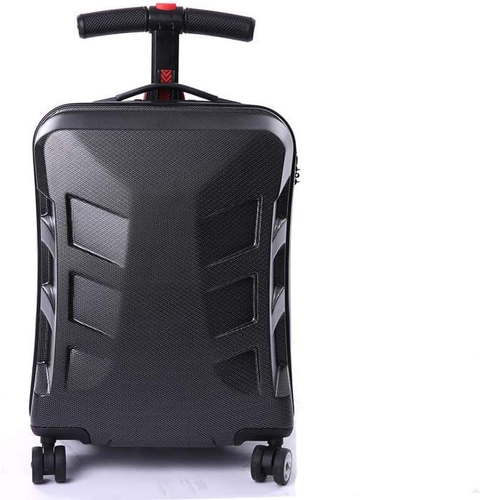 TRYSHA Maleta rígida para equipaje y scooter, se puede deformar