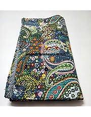 Queen/Twin/King Quilten Indian Handgemaakte Paisley Print Kantha Quilt Katoen Kantha Deken Bed Cover Sofa Cover Kantha Bedsprei Bohemian Beddengoed
