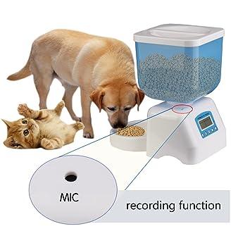 Dax-Hub ABS automático dispensador de comida dispensador para perros y gatos alimentabile programable con depósito ...