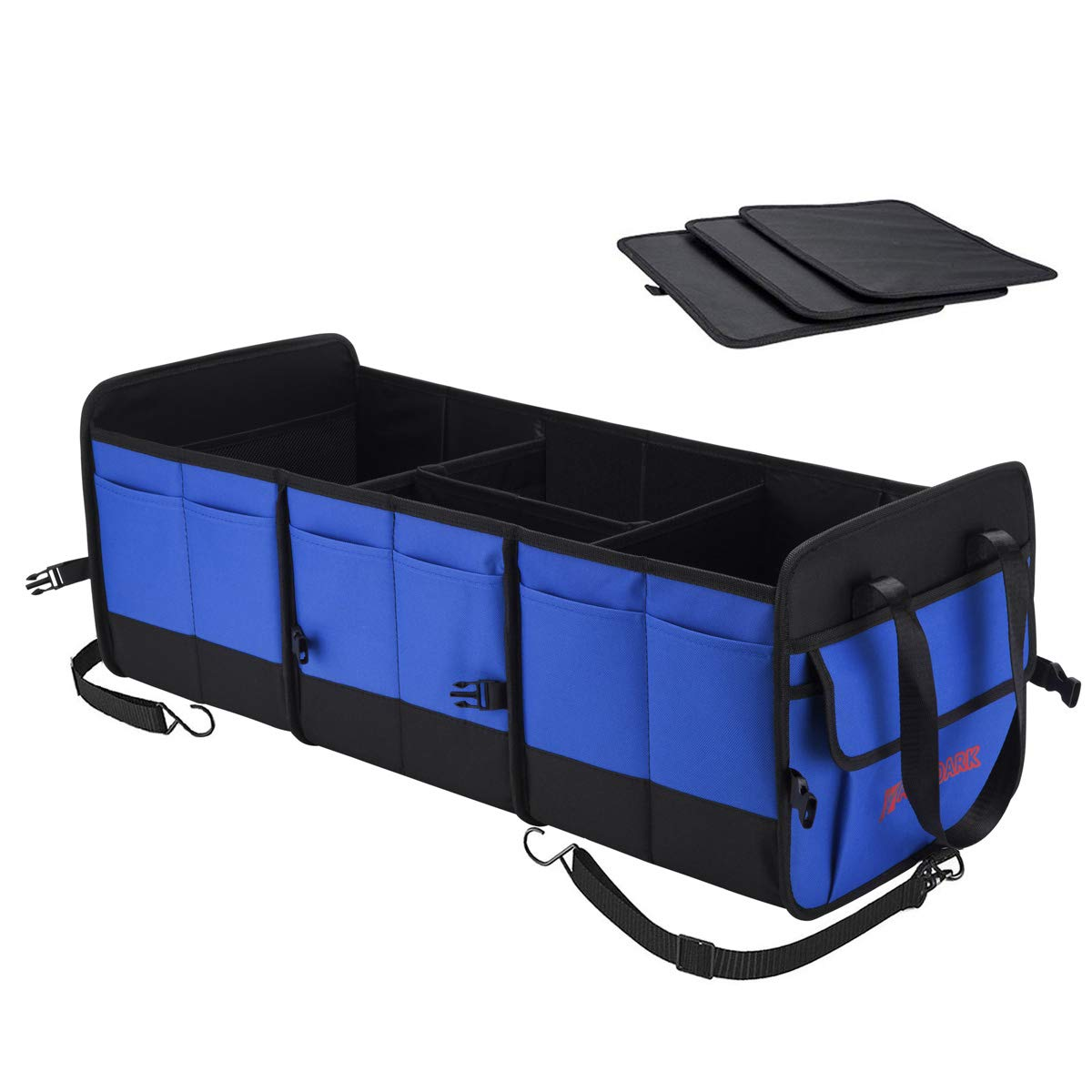 Autoark Multipurpose Car SUV Trunk Organizer,Durable Collapsible Adjustable Compartments Cargo Storage,AK-076