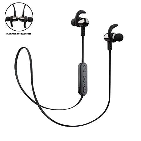 Wayona Reverb Y9 Wireless Bluetooth 4.2 Stereo Sports Earphones with Magnet with Built in Mic with Qualcomm CSR8635 Chipset  amp; Super Bass Headphone