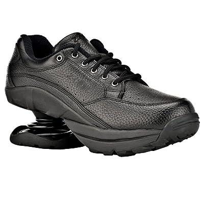 Z-CoiL Pain Relief Footwear Women's Legend Rugged Outsole Black Leather Tennis Shoe   Tennis & Racquet Sports
