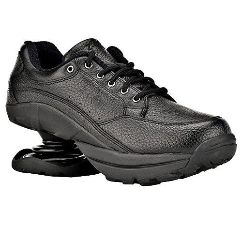 36e775f2b8d Z-CoiL Pain Relief Footwear Women's Legend Rugged Outsole Black Leather  Tennis Shoe