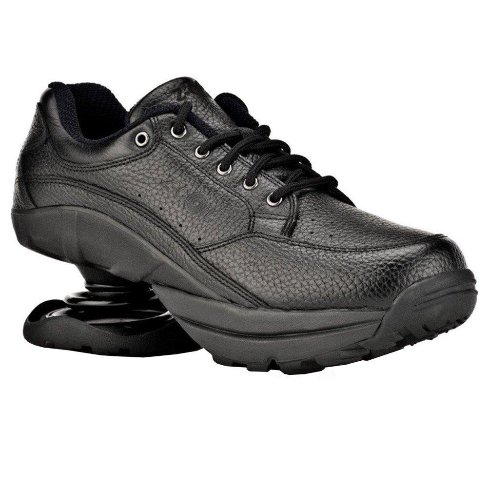 Z-CoiL Women's Legend Rugged Outsole Black Leather Tennis Shoe 7 C/D US