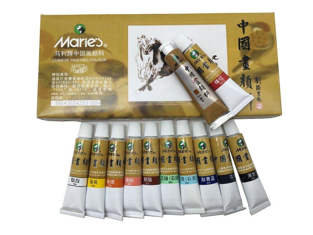 Marie's 中国 ペイントカラー チューブ 水彩セット 5 ml 12色 EASYOU B01LKT1S3M  Marie12ml*12color