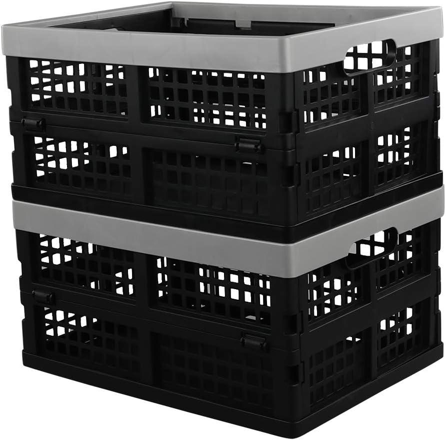 Neadas Caja Cajas Cesta Cesto Plastico Plegable de Almacenamiento, 2 Unidades