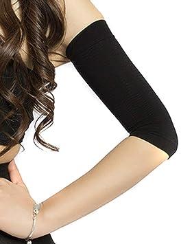 Manchon de Bras Compression Bras Manches Femme Shaper Amincissant Minceur  Noir 6b7a9beaf47