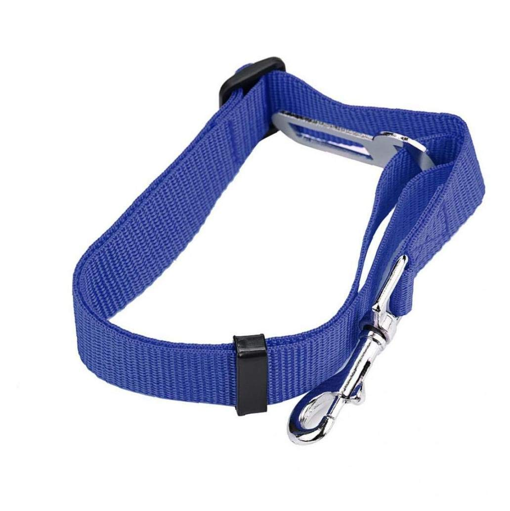 TOSSPER Asiento Cuidado de Animales de la Seguridad del Perro del Gato del Coche del veh/ículo cintur/ón de Seguridad del arn/és de Seguridad del Clip Plomo Mascota Perro Gato