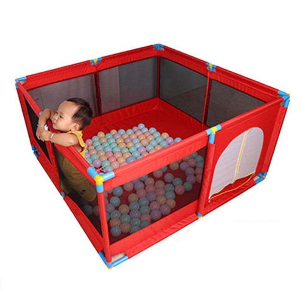 FMEZYプラスチックベビーベビーサークル屋内自立プレイペン用ベビー幼児安全プレイエリアゲート(カラー:オレンジ)  Red B07TW787LS