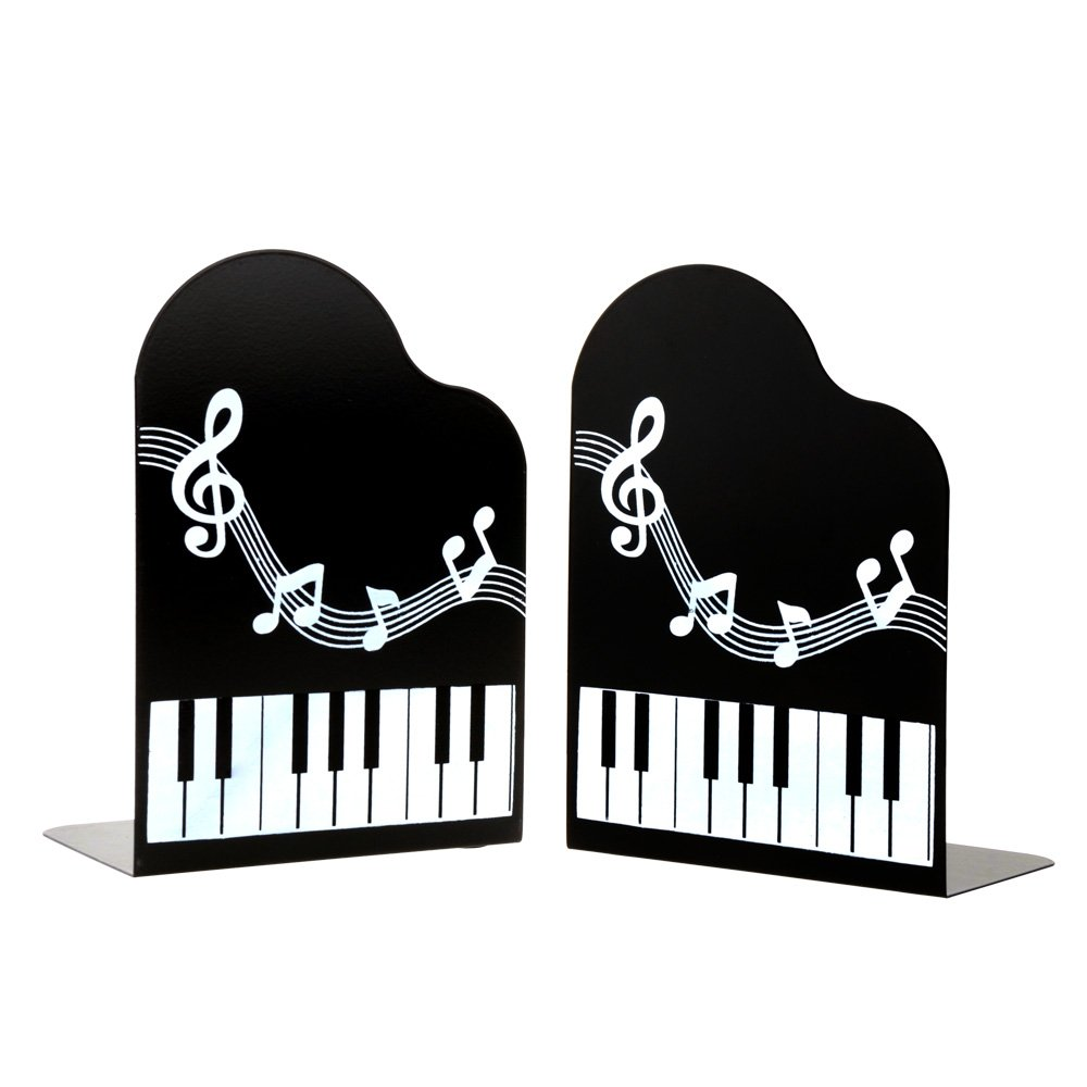 1Pair Piano Music River Art bookends bookends Gift Black