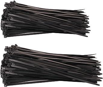 Lot de 100/attaches de c/âble en nylon Zip Tie Wraps Couleur Noir Attache de c/âble 100/mm x 2,5/mm Taille