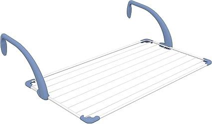 Gimi Brezza 100 Tendedero de balcón de acero y resina, 10 m de longitud de