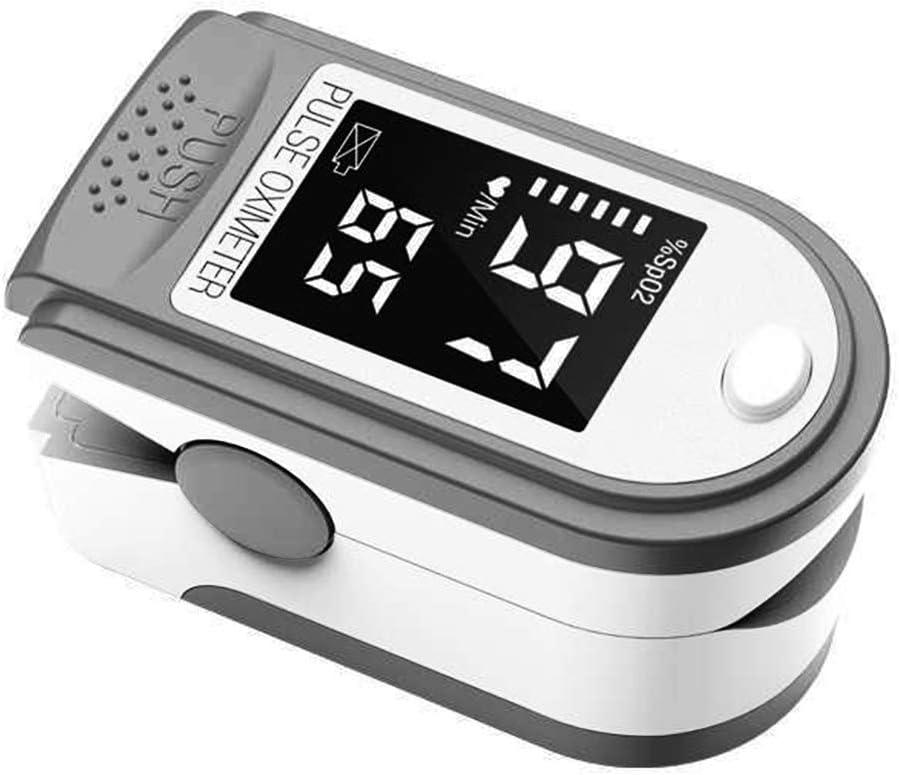 Oxímetro de dedo portátil com visor L-ED Monitor de taxa de pulso de oxigênio no sangue para viagens em família (branco) por Cucudy