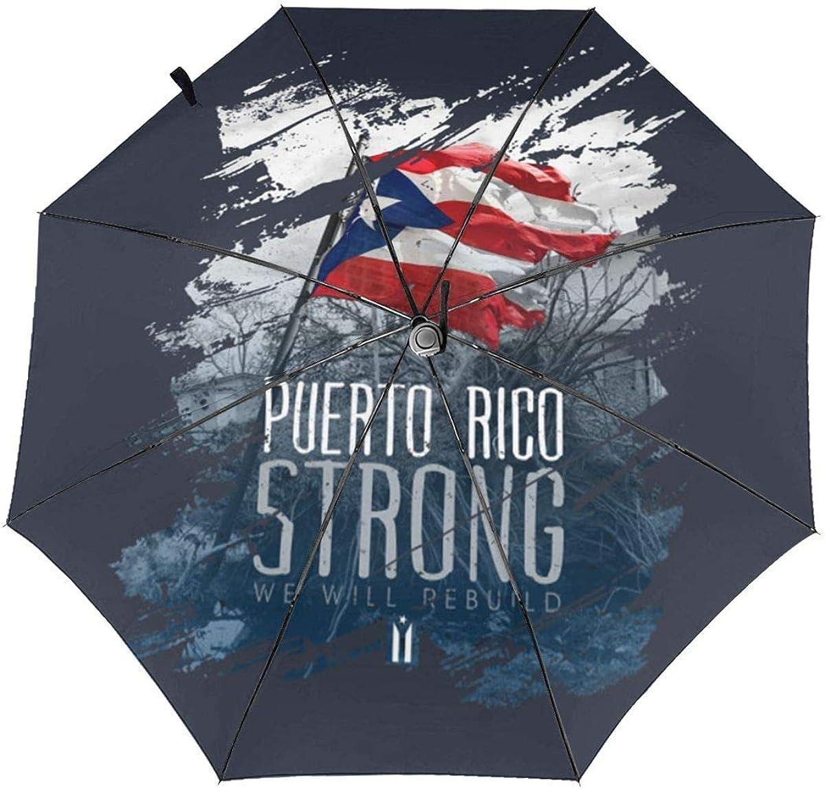 Paraguas Puerto Rico Fuerte Automático Tri-Fold Paraguas Parasol Sombrilla Sombrilla