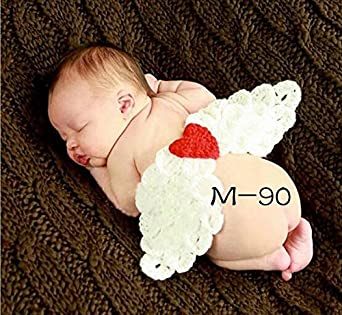 083f791185ebb ホワイト   ベビー コスチューム 寝相アート ハロウィン エンジェル ベビー服 記念撮影 赤ちゃん 毛糸 ハンドメイドコスチューム Disney