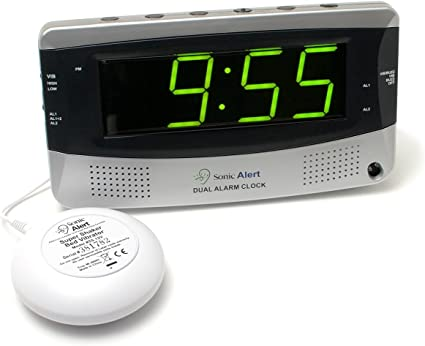 Sonic Alert SBD375SS VDE Réveil avec Vibreur Double Alarme