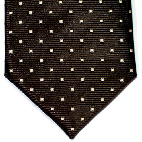 Tie Brown Various Pin Woven Dark Pin Brown Colors Dots With Microfiber Retreez Skinny Dots Necktie 1H7xqXf