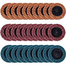 30 PCS Roloc Quick Change Discs, Ankoow 2 Inch Surface Conditioning Discs, Fine Medium Coarse Grit, Roll Lock Sanding Discs with 1PC Disc Pad Holder