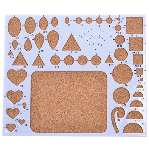 Qingsun Quilling Template Board Paper Quilling Mold Mould Circle Template Board Heart Template Board Quilling Work Board DIY Paper Quilling Handmade T…
