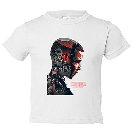 Camiseta niño Stranger Things silueta Eleven - Blanco, 3-4 años