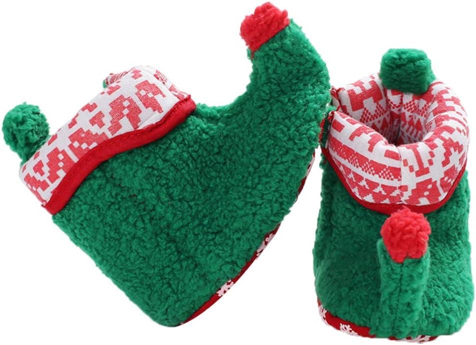 Amazon.com: FENICAL Bebé Navidad elfo forro polar pantuflas ...