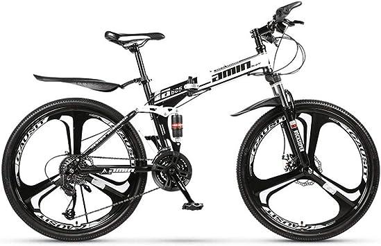 ZJDU Bicicleta Plegable,Bicicleta De Montaña De 24/26 Pulgadas con Suspensión Completa,Bicicleta Doble De Freno De Disco para Adultos: Amazon.es: Deportes y aire libre