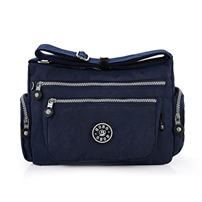 3ac352f36b Women Messenger Bags Casual Nylon Crossbody Shoulder Bags Multi-Pocket  Handbag Tote Purse Blue