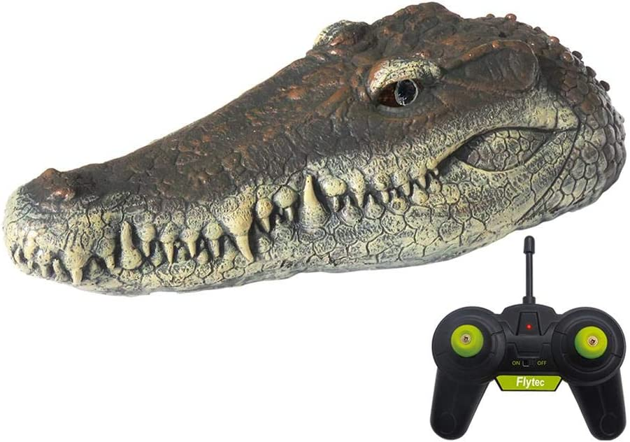 Remote Control Electric Racing Boat 2.4G Hz Boat For Pools With Simulation Crocodile Head Spoof Toy