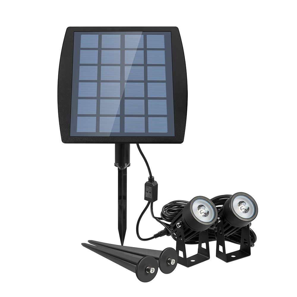 "Xinmax Solar Spotlight Warm White Waterproof Outdoor Solar Lights Landscape Lighting Auto""ON/OFF"" Garden Patio Decoration Lightings"