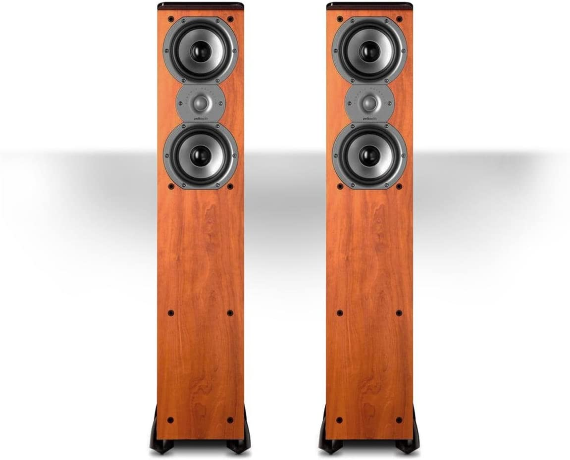 Polk Audio TSi300 Floorstanding Tower Speaker – Pair Cherry